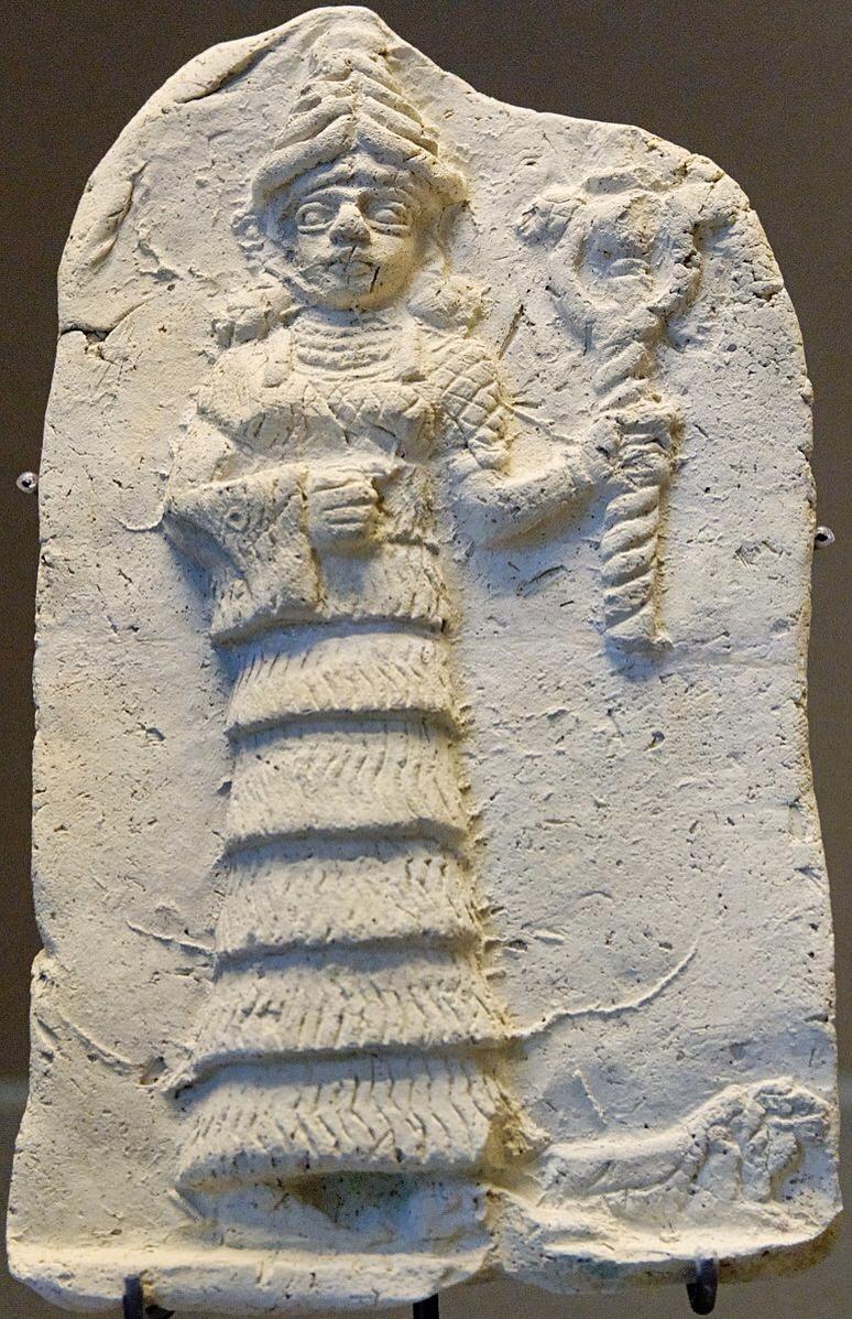 Ishtar korai 2. évezredben. Louvre, Párizs.jpg