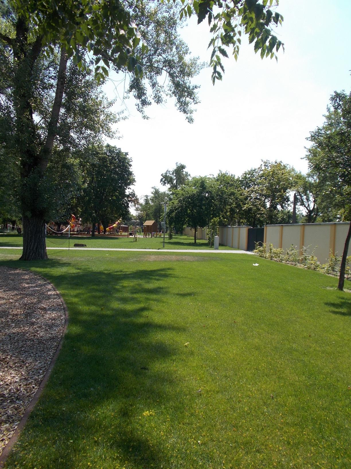 A park nagyon szépen karban tartott