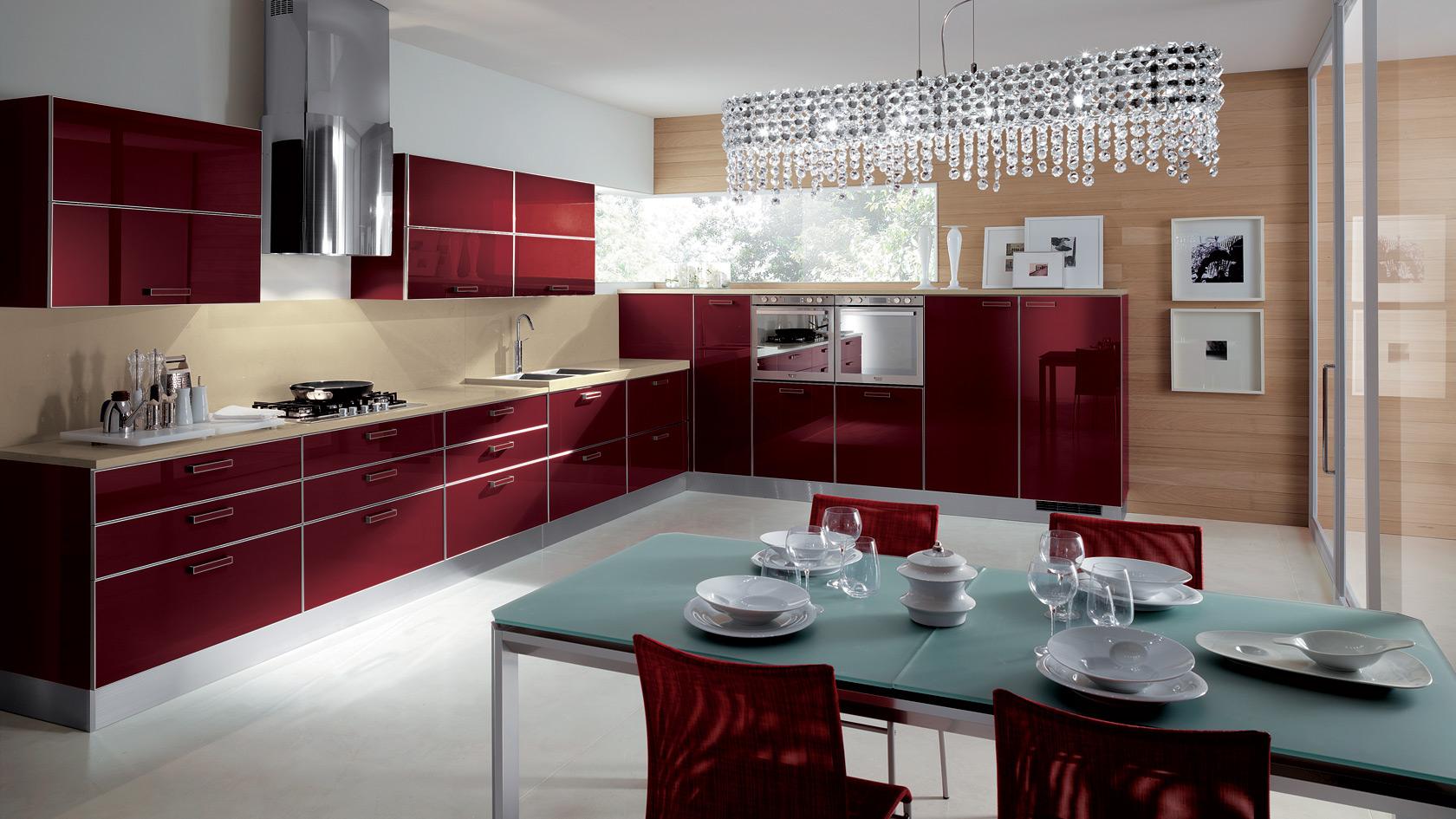 Színek a konyhában - piros - Konyhasziget