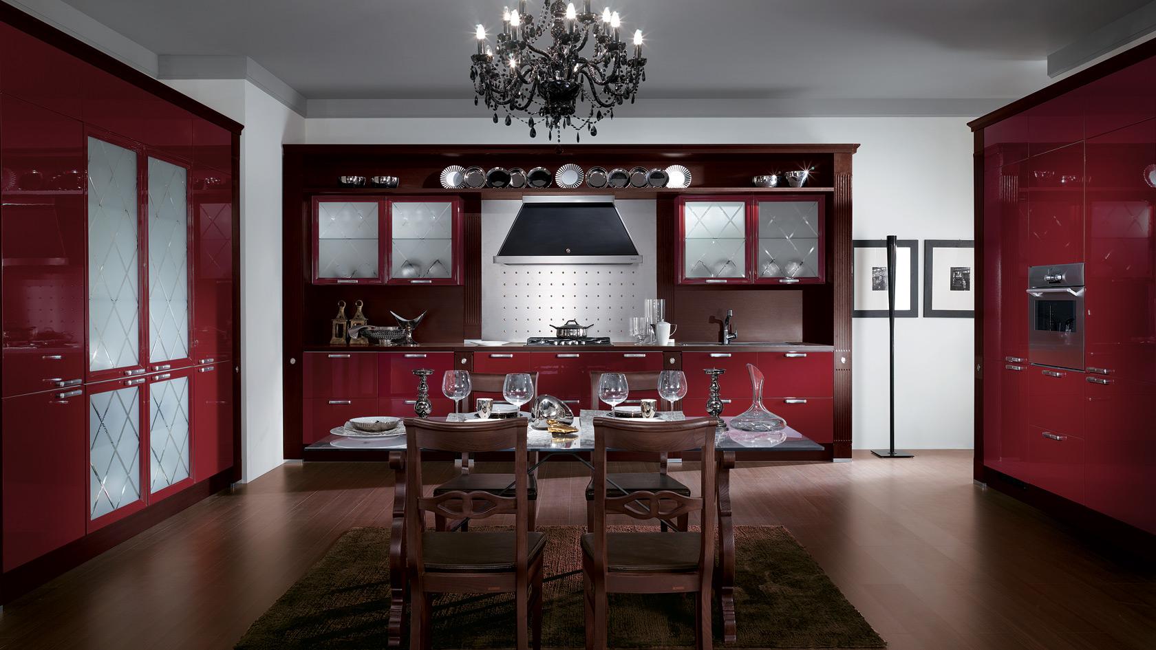 Színek a konyhában - piros