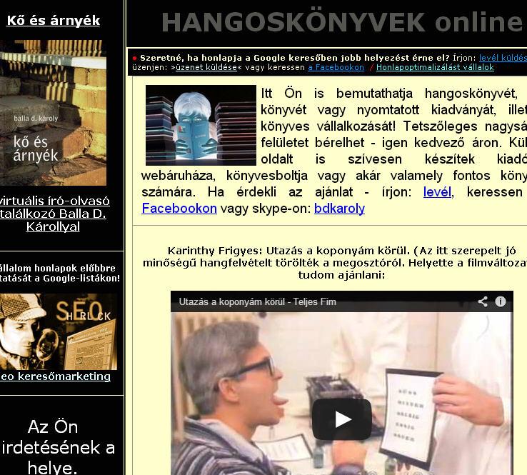 hangoskönyv hallgatás - online letöltés