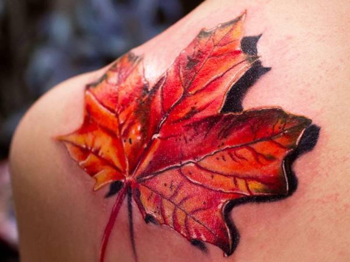 Что обозначает тату кленовый лист
