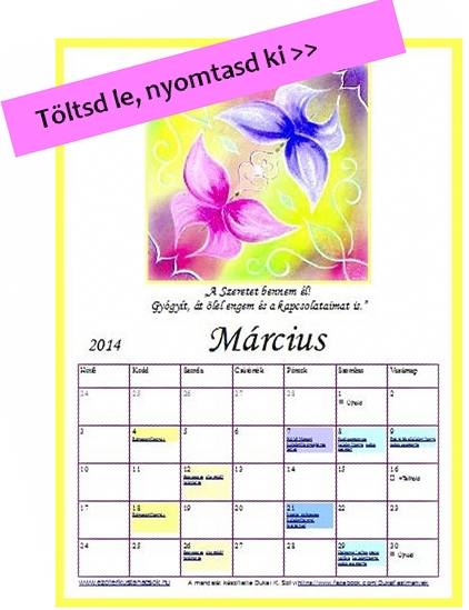 fogyás naptár