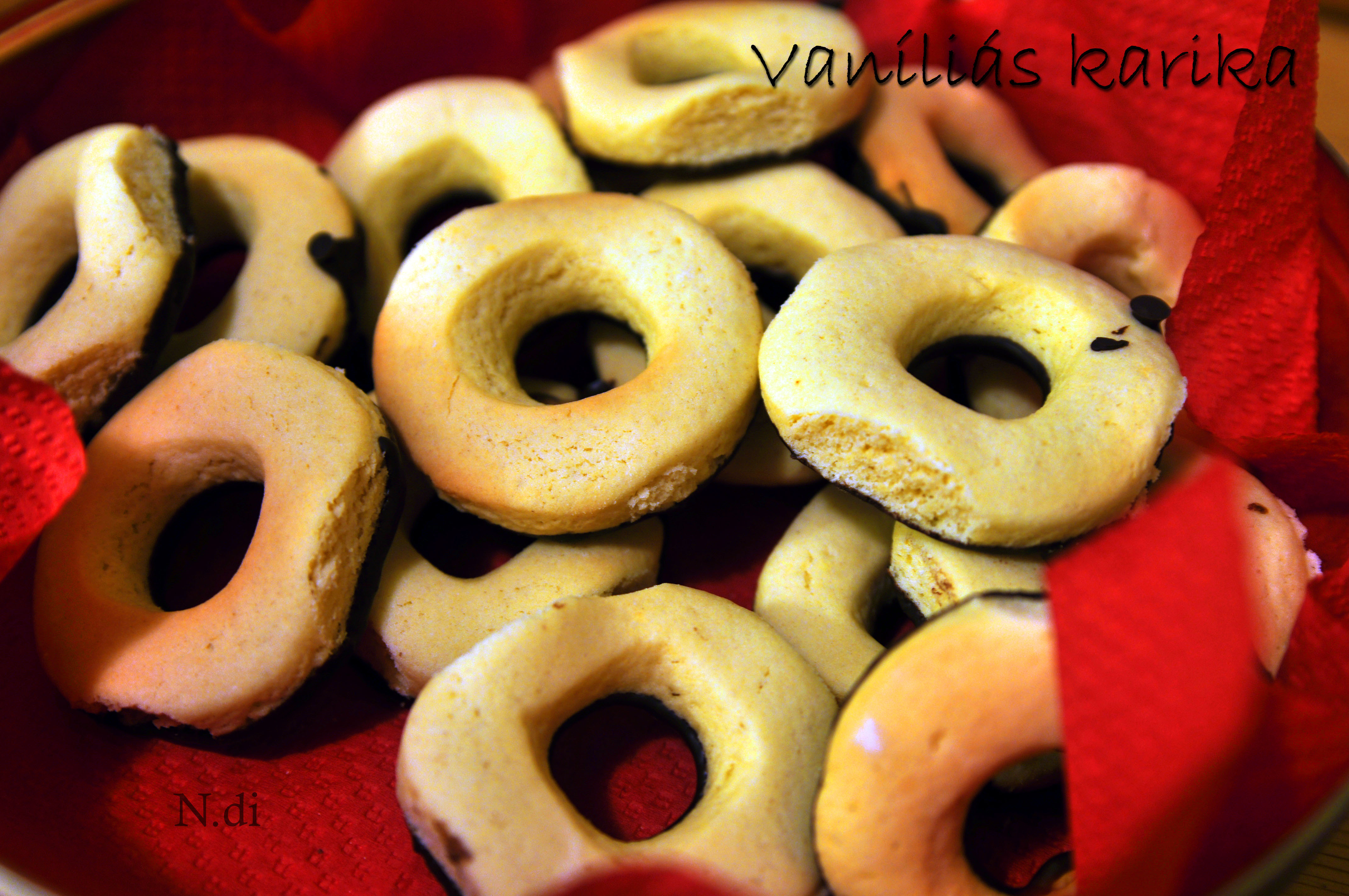 Házi vaníliás karika