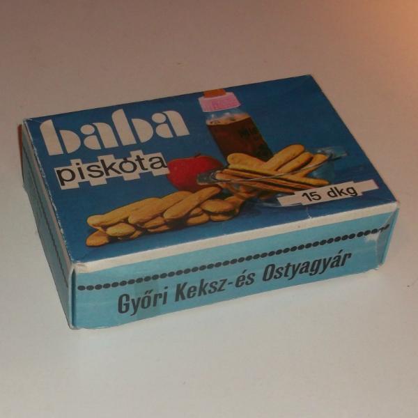 Még egy doboz - baba piskóta doboz 1978 - tartalma a néhai Győri Keksz- és Ostyagyár terméke volt