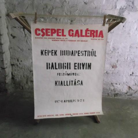 Nem csak lekvár - plakát is van 1974-ből - Balogh Ervin festőművész kiállítása 1974. ápilis 9 - 21