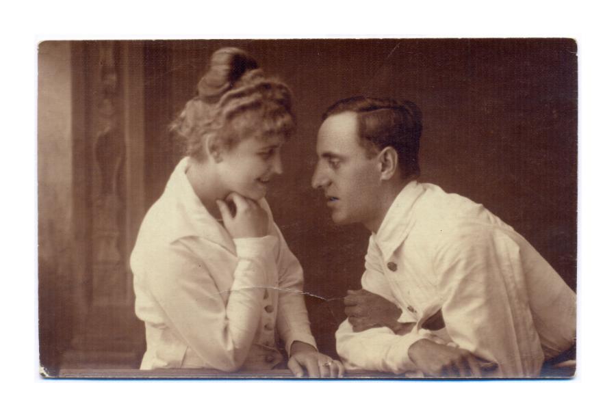 Fiatal pár - Rozgonyi műterem fotóalkotás 1910 körül