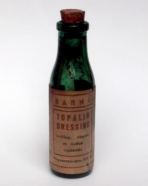 Cipőápoló festék relikvia - Topalin dressing - a Kozmetikai és Háztartásvegyipari Vállalat terméke volt