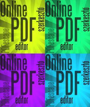 pdf szerkesztó - pdf online editor