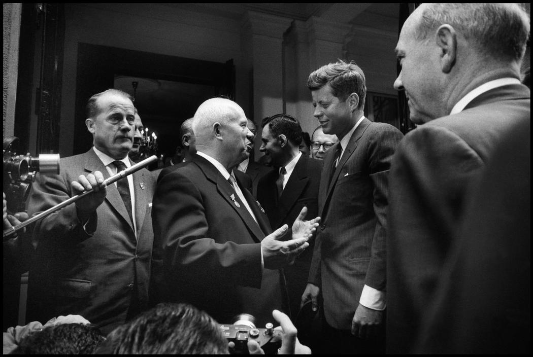 AUSTRIA. 1961. Vienna. Soviet premier Nikita KHRUSCHEV and US president John F. KENNEDY.jpg
