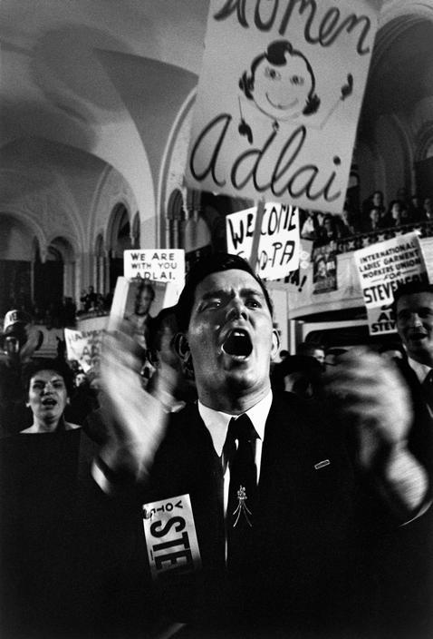 USA. 1950s. Adlai STEVENSON supporters..jpg