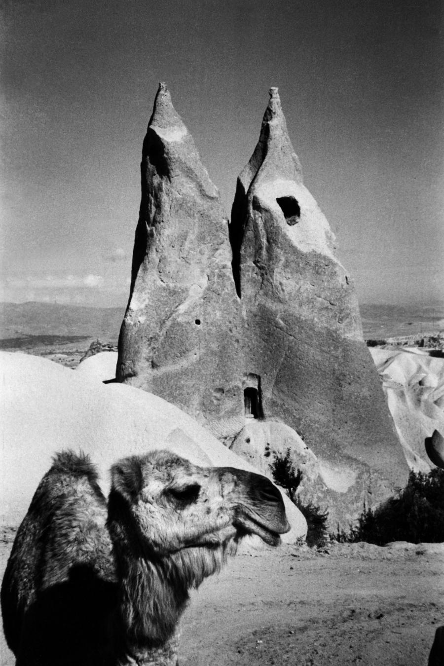 Barlanglakás Ürgüp és Uçhisar  között, Kappadókia, Törökország, 1955.jpg