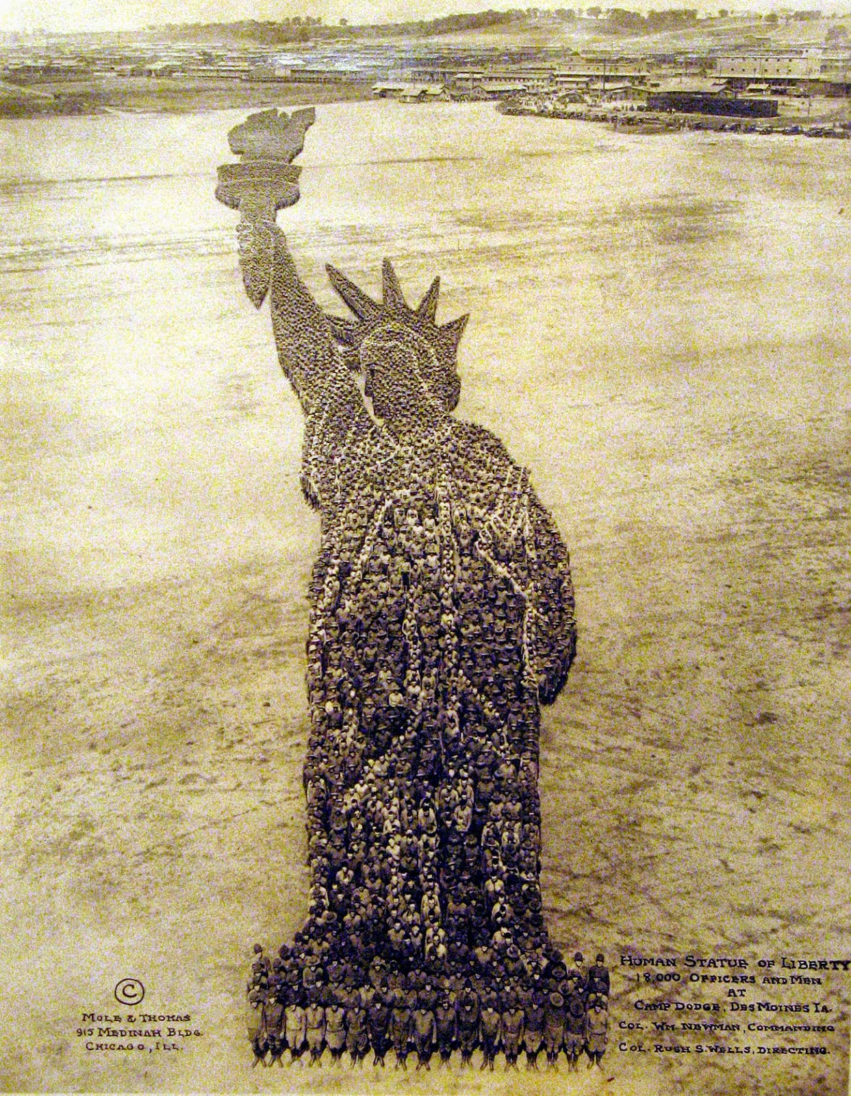 Pictures Formed by Thousands of US Soldiers during World War I (1).jpg