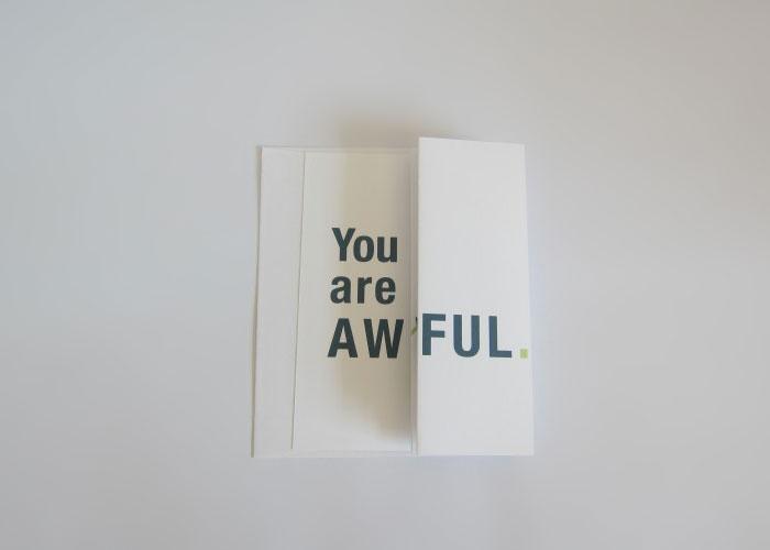 Szarkasztikusan vicces üdvözlőkártyák