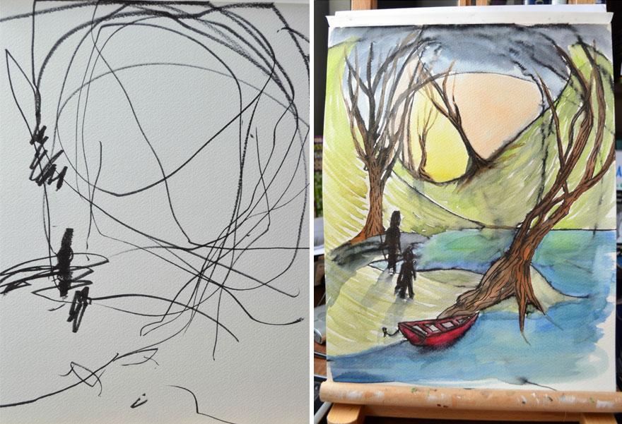 Közös művészeti projekt egy 2 évessel – Ruth Oosterman és Eve