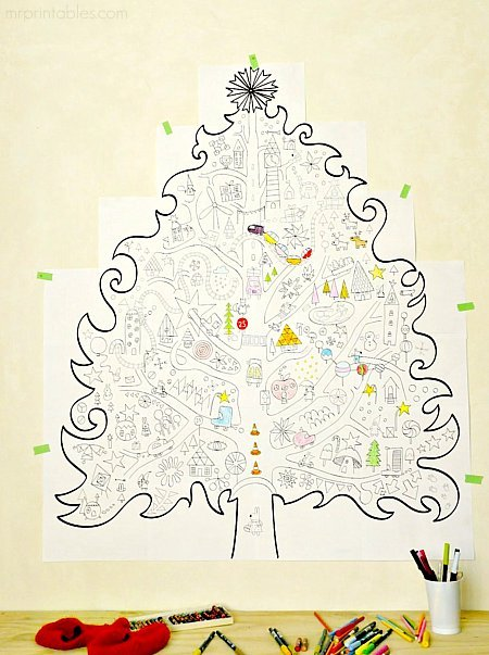 giant christmas coloring pages - photo#7