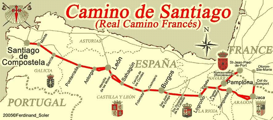 el camino térkép Egy napon arra ébredsz, hogy már nincs idő megtenni azokat a  el camino térkép