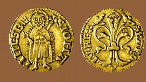 I. Károly aranyforintja a firenzei liliommal