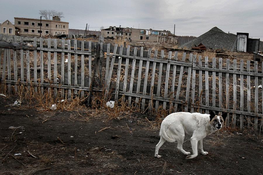 Elhagyott muszljumovói házak