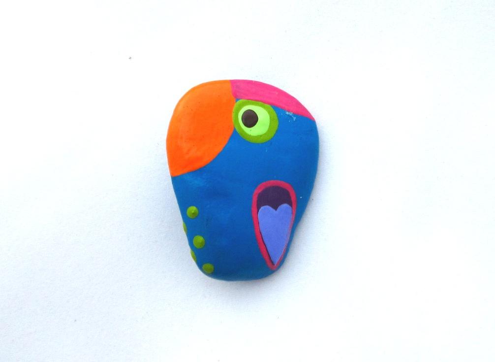 Türkizzöld papagáj kitűző