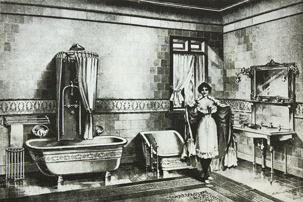 Angol polgárcsalád fürdőszobája 1900.jpg