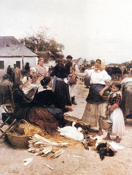 Baromfivásár Szolnokon Deák-Ébner Lajos.jpg