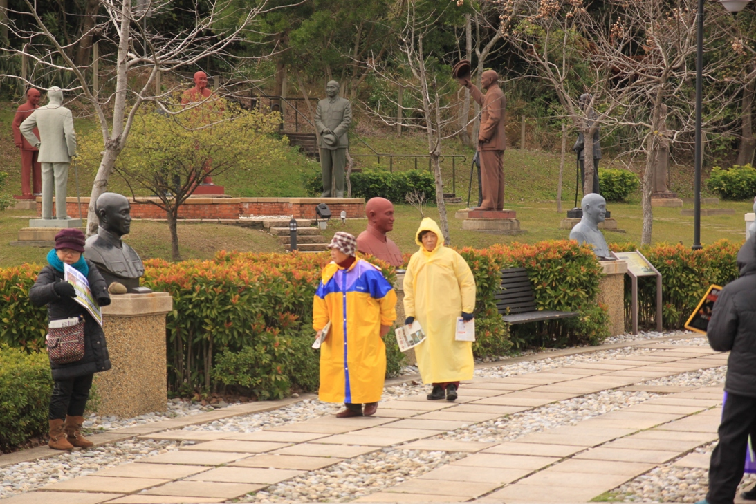 Kínát éltető térítők Tajvan nemzeti atyjának emlékparkjában