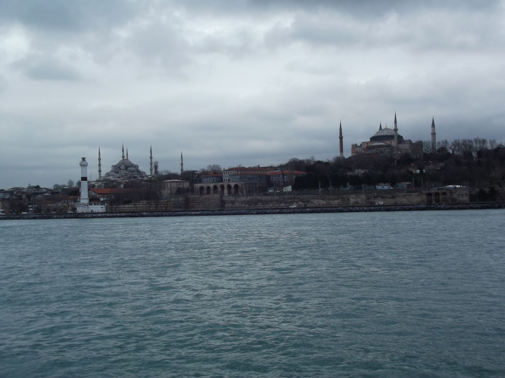Kék Mecset, Hagia Sophia a hajóról