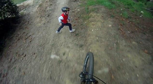 Kid vs Downhill Mountain Biker.jpg