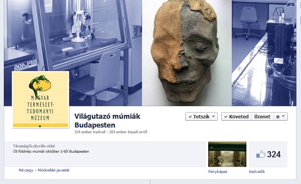 Világutazó múmiák Budapesten - Facebook oldalunk