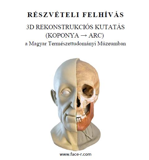 Felhívás: 3D Rekonstrukciós kutatás (KOPONYA → ARC)