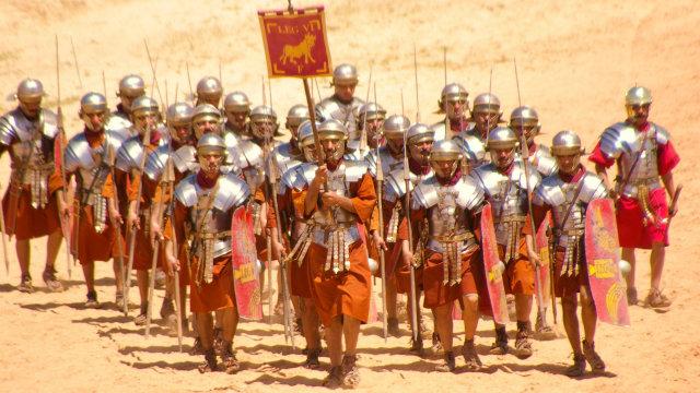 A római légió katonái