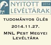 Konferencia a MNL Pest Megyei Levéltárában