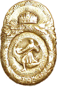A m. kir. Pécsi 19. gyalogezred egyik sapkajelvény típusa