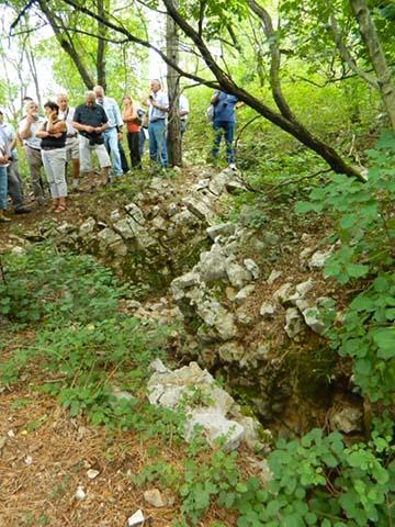 Olasz lövészárok maradványai a Monte San Michelén