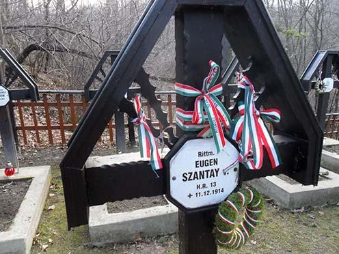 Szántay Jenő sírja a tymbarki temetőben