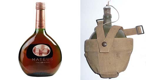 A Mateus rozé üvegének formáját az első világháborús portugál katonák kulacsáról mintázták