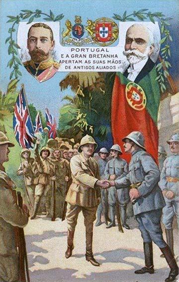 """""""Nagy-Britannia és Portugália, a két régi szövetséges kezet szorít"""""""