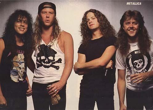 A Metallica tagjai 1987-ben