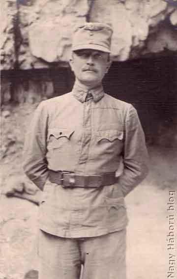 Pour Gyula százados a 17-es honvédek I. zászlóaljának parancsnoka