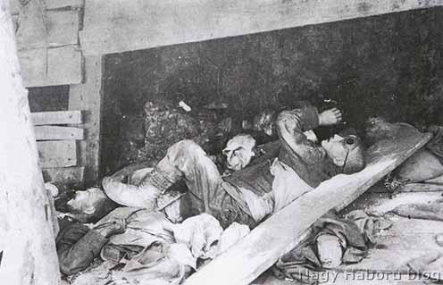 Gázmérgezett olasz katona a San Michelén