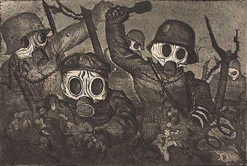 Otto Dix: Rohamcsapat egy gáztámadás alatt, 1924