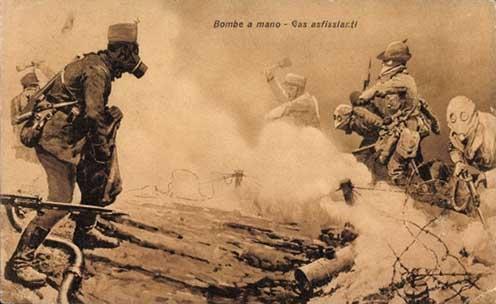 Olasz képeslap 1917-ből