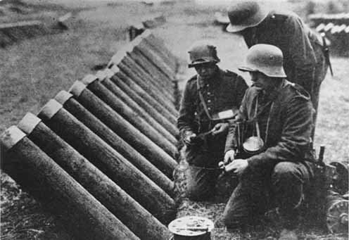 Német vetőcsövek a nyugati fronton