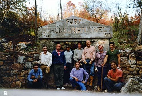 A helyreállított bejárat 1996 telén