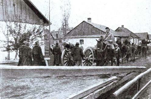 Osztrák-magyar tüzérség az északi harctéren