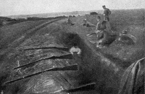 Lőállás Kraśniknál éjszaka