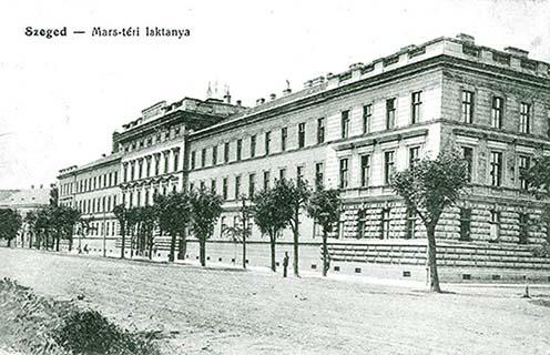 A 46-osok laktanyája korbeli képeslapon