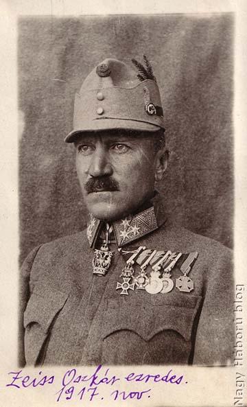 Oskar Zeiss, avagy Zeiss Oszkár az ezred parancsnoka