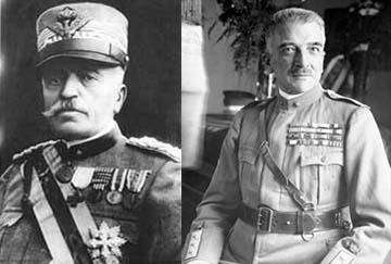 Luigi Cadorna és Armando Diaz